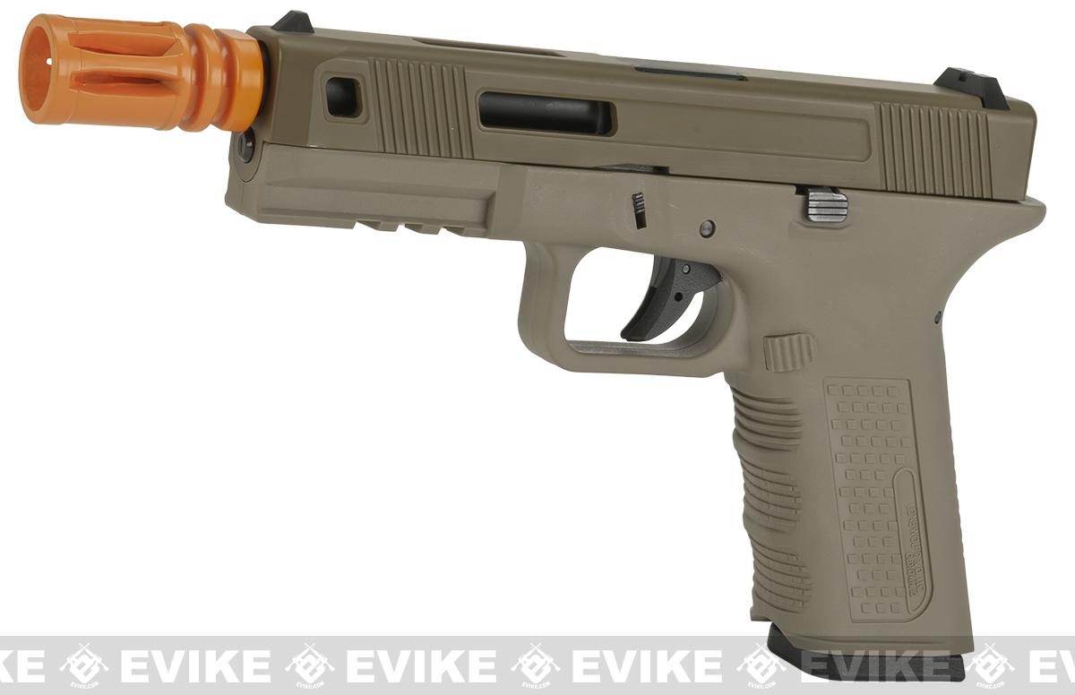z Lone Wolf Licensed Timberwolf XTR Gas Blowback Airsoft Pistol by Echo1 - Tan