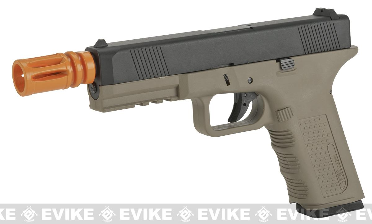 Lone Wolf Licensed Gen2 Full Metal Timberwolf Airsoft GBB Pistol by Echo1 - Tan