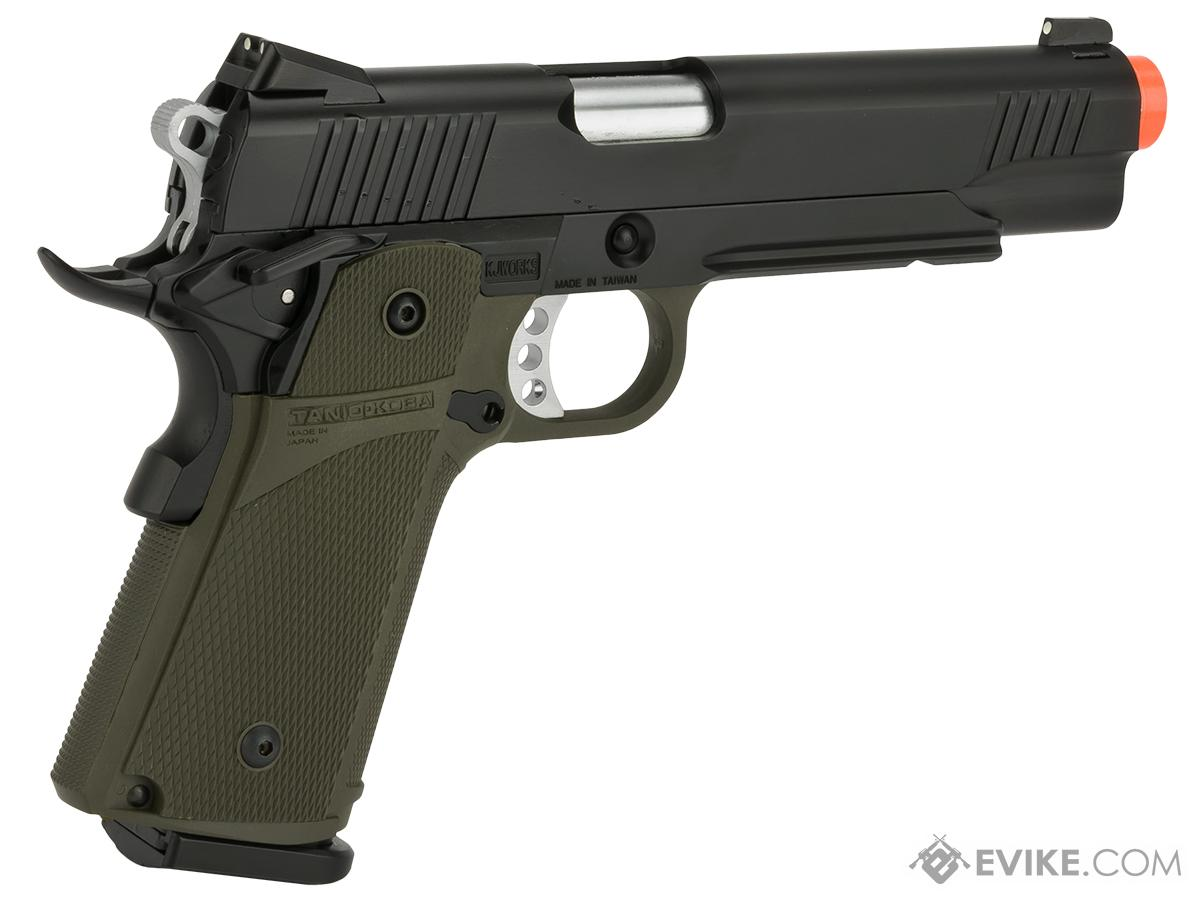 KJW Full Metal Custom 1911 Tactical HI-CAPA Gas / CO2 Blowback - OD Green (Package: Pistol)