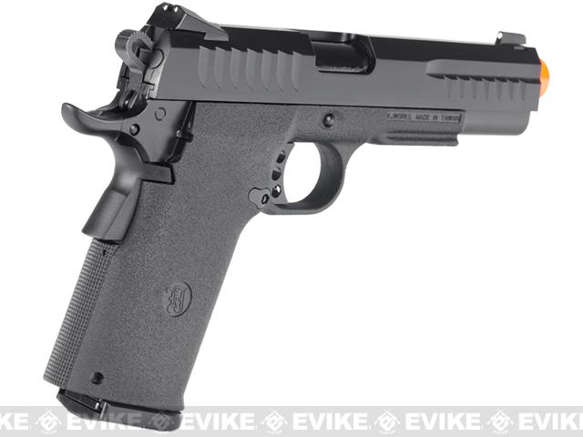 KJW Full Metal KP08 Tactical Custom Hi-Capa Airsoft GBB Pistol
