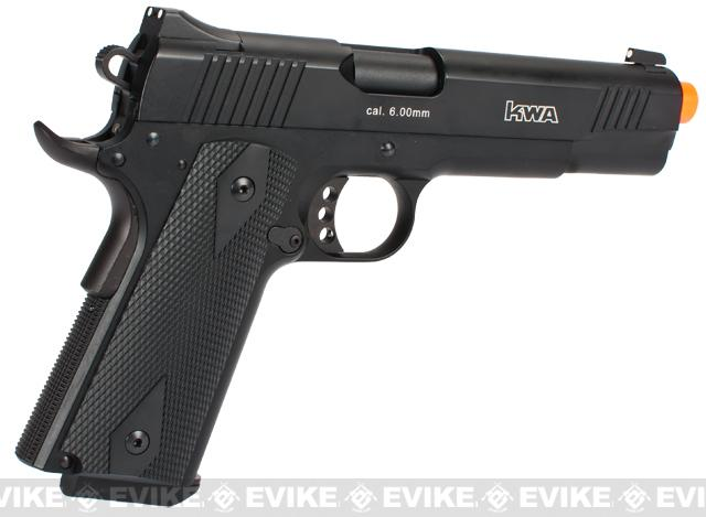 KWA Full Metal M1911 NS2 PTP Airsoft Gas Blowback - MKI / Black