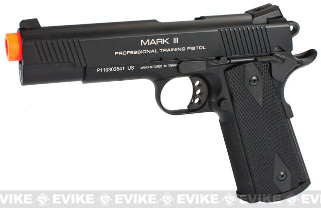 KWA Full Metal M1911 NS2 PTP Airsoft Gas Blowback - MKIII / Black