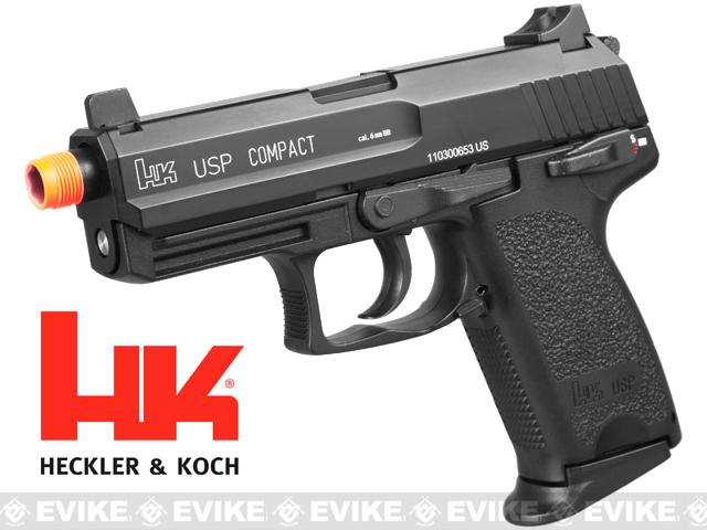 z Heckler & Koch / Umarex Full Metal USP Compact Tactical NS2 Airsoft Gas Blowback Gun by KWA