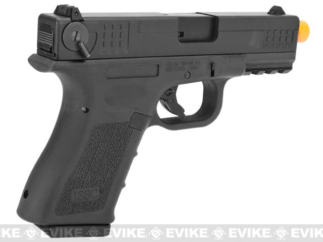 ISSC Licensed M-22 Full Metal Airsoft GBB Gas Blowback Pistol by WE - Black