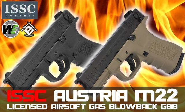 Bone Yard - WE ISSC Licensed M-22 Full Metal Airsoft GBB Gas Blowback (Store Display, Non-Working Or Refurbished Models)