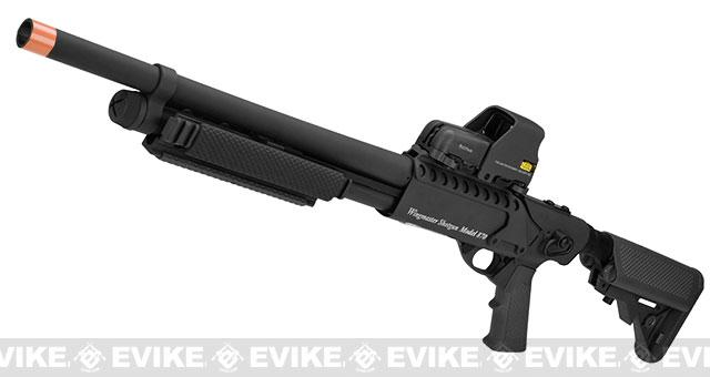G&P M870 P.T.E. High Power Airsoft Shotgun - Entry Railed w/ Medium Barrel