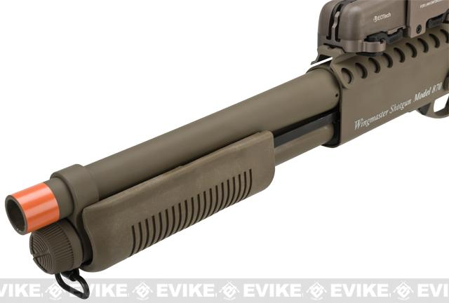 G&P M870 P.T.E. High Power Airsoft Shotgun - Breacher Railed w/ Short Barrel (Dark Earth)
