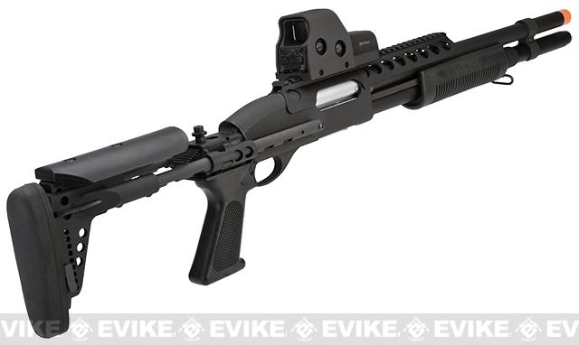 G&P M870 P.T.E. High Power Airsoft Shotgun - Entry RAS w/ Long Barrel