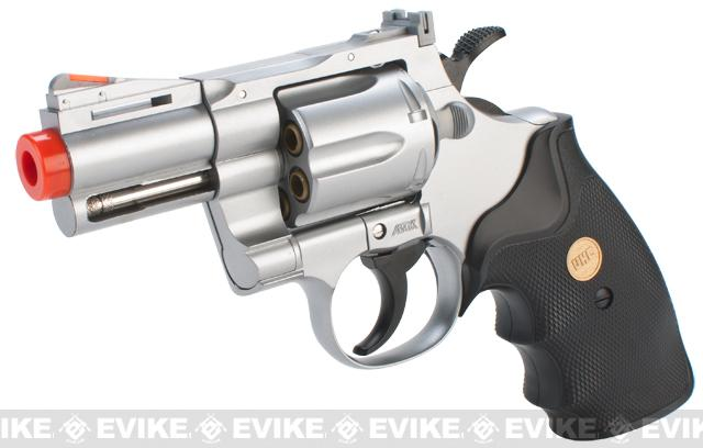 UHC / TSD Heavy Weight 2.5 Airsoft Gas Revolver - Silver / Black