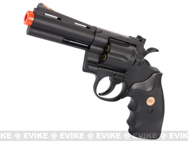 UHC / TSD Heavy Weight 4 Airsoft Gas Revolver - Black / Black
