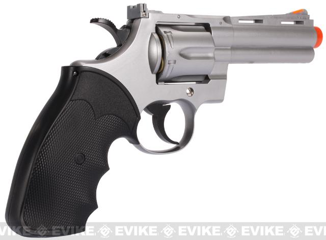 UHC / TSD Heavy Weight 4 Airsoft Gas Revolver - Silver / Black
