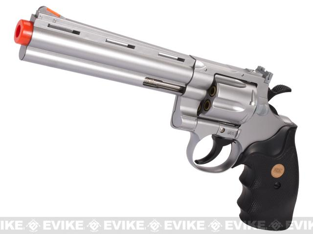 UHC / TSD Heavy Weight 6 Airsoft Gas Revolver - Silver / Black