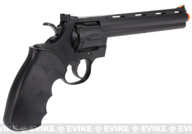 UHC / TSD Heavy Weight 8 Airsoft Gas Revolver - Black / Black