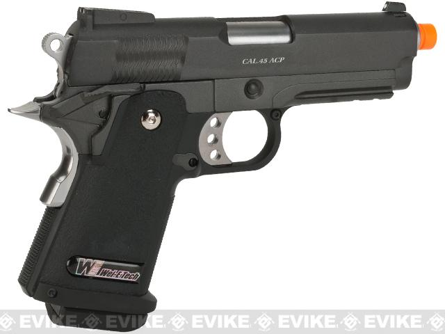 WE-USA Full Metal 3.8 Inch 2011 Hi-Capa Airsoft Gas Blowback Pistol - Bravo
