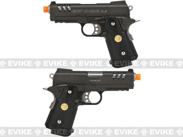 WE-USA NG3 Full Metal 3.8 Inch 2011 Hi-Capa Airsoft Gas Blowback Pistol - Charlie