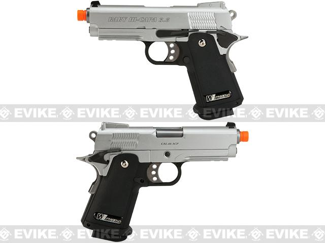 WE-USA NG3 Full Metal 3.8 Inch 2011 Hi-Capa Airsoft Gas Blowback Pistol - Silver