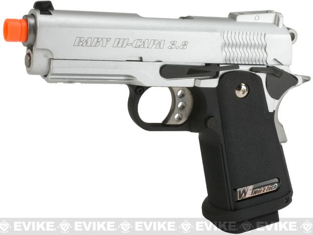 z WE-USA NG3 Full Metal 3.8 Inch 2011 Hi-Capa Airsoft Gas Blowback Pistol - Silver