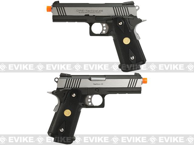 WE-USA NG3 4.3 Inch 2011 HI-CAPA Railed Frame Heavy Weight Airsoft Gas Blowback Pistol - Two-Tone