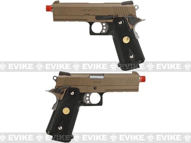 WE-Tech 4.3 Inch 2011 HI-CAPA Railed Frame Heavy Weight Airsoft Gas Blowback Pistol - Tan