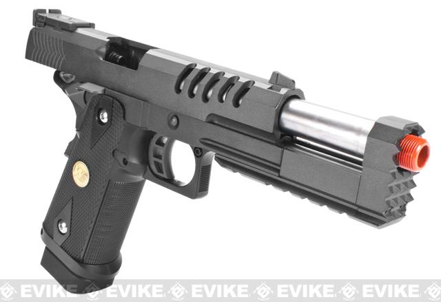 WE CQB Master Custom Full Metal Hyper Strike Hi-CAPA Airsoft Gas Blowback Pistol with Diamond Pattern Grip