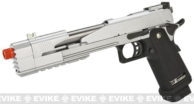 WE-Tech 7 Xcelerator Dragon Full Metal Hi-CAPA Airsoft Gas Blowback (Color: Silver / Standard Grip)