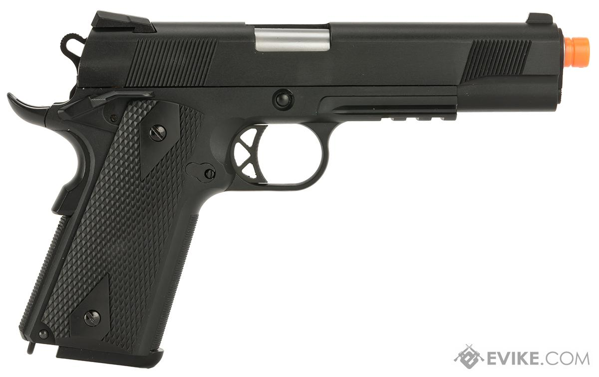 WE-Tech Full Metal 1911 KB Custom Airsoft Gas Blowback Pistol with Railed Frame