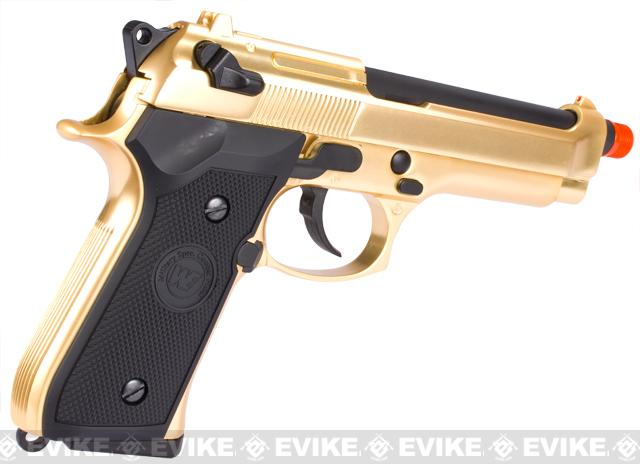 WE Special Bling Edition Full Metal M9 PTP High Power Heavy Weight Airsoft Gas Blowback - Gold