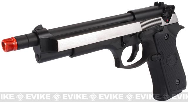 WE-Tech High Power Elite M9 PTP Airsoft GBB Pistol - Two-Tone