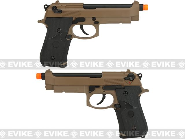 WE-USA NG3 Full Metal M9 Railed Heavy Weight Airsoft GBB Professional Training Pistol - Tan