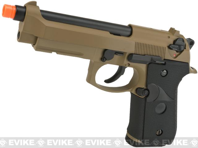 WE CQB Master Full Metal M9  Special Edition  PTP Airsoft Gas Blowback Pistol (Tan)
