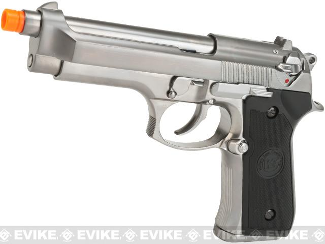 WE-USA NG3 Full Metal M9 Heavy Weight Airsoft GBB Professional Training Pistol - Silver