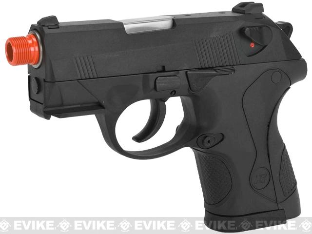 Bulldog Compact Airsoft Gas Blowback GBB Pistol by WE - Black