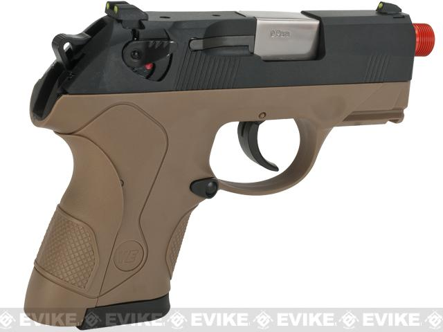 Bulldog Compact Airsoft Gas Blowback GBB Pistol by WE - Tan
