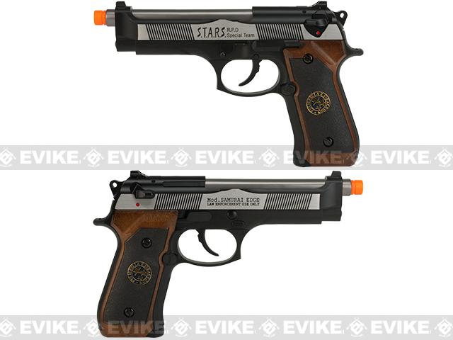 WE-USA NG3 Custom Samurai Edge Biohazard M9 Airsoft Gas Blowback - Two Tone