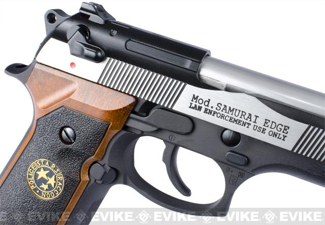 z WE Custom Samurai Edge Biohazard Full-Auto M9 Limited Edition Airsoft Gas Blowback - Two Tone