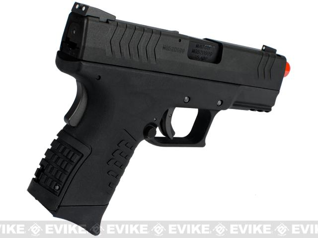 WE-Tech DM 3.8 Compact Airsoft GBB Pistol - Black