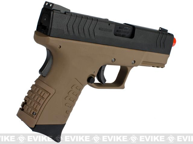 WE-Tech DM 3.8 Compact Airsoft GBB Pistol - Dark Earth