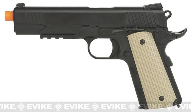 Pre-Order ETA December 2016 WE-USA Full Metal 1911 Desert Warrior Railed Frame / Threaded tip Airsoft Gas Blowback Pistol
