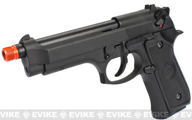 z WE Custom Full-Auto M9 Airsoft Gas Blowback Pistol - Black