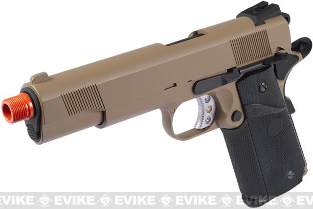 WE Full Metal 1911 MEU Standard Heavy Weight Airsoft Gas Blowback Pistol - Desert
