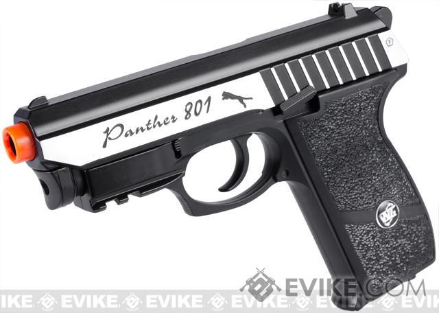 Panther P-801 Full Metal Airsoft CO2 Gas Blowback High Power Hand Gun w/ Integrated Laser by Win Gun (380 FPS)