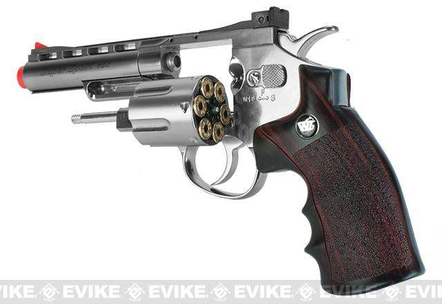 WG CO2 Full Metal 4 High Power Airsoft 6mm Magnum Gas Revolver (Chrome)