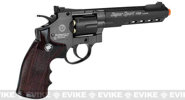 WG CO2 Full Metal 6 High Power Airsoft 6mm Magnum Gas Revolver (Black)