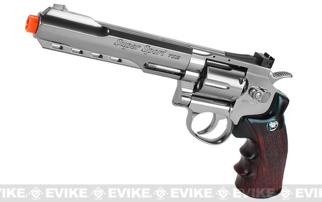 WG CO2 Full Metal 6 High Power Airsoft 6mm Magnum Gas Revolver (Chrome)