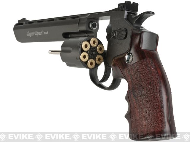 WinGun 8 Magnum Full Size CO2 Full Metal High Power Airsoft Gas Revolver - Brown