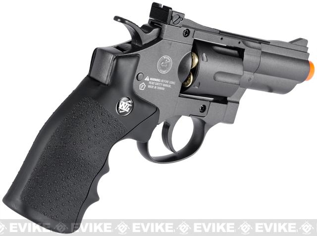 WinGun Full Metal 2 Airsoft CO2 Gas Non-Blowback Revolver - (Black)
