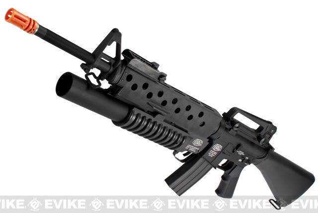 G&P Scar Face M16A3 Full Metal M16 VN Airsoft AEG Rifle w/ M203 Grenade Launcher