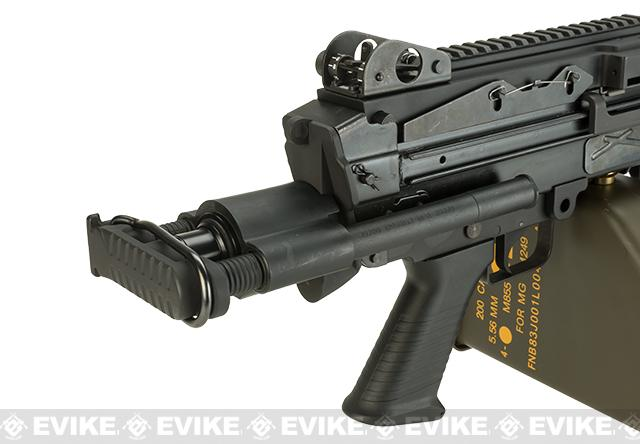 Pre-Order ETA April 2017 G&P M249 SAW Airsoft AEG Rifle with Collapsible Stock - Para Version (Package: Add Battery + Charger)
