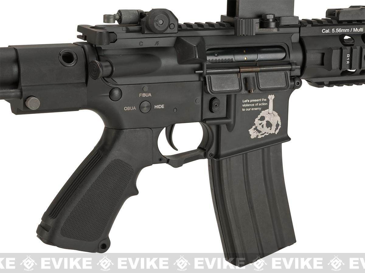 G&P Fighting Cat Airsoft CQB M4 Airsoft AEG with Tanker Stock (Package: Add Battery + Charger)