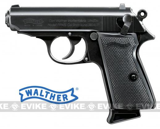 Bone Yard - Walther Licensed PPK Full Size Airsoft Gas Blowback Pistol by Maruzen - Black (Store Display, Non-Working Or Refurbished Models)